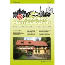 Eichsfelder Heimatzeitschrift, Heft 10, Oktober 2010
