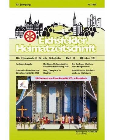 Eichsfelder Heimatzeitschrift, Heft 10, Oktober 2011
