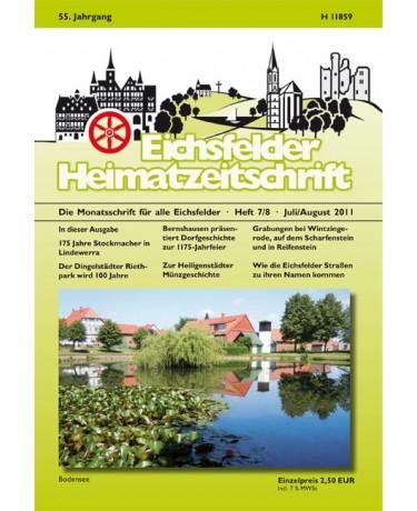 Eichsfelder Heimatzeitschrift, Heft 7 und 8, Juli+August 2011