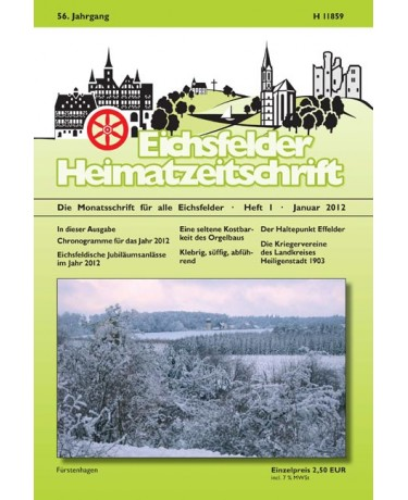 Eichsfelder Heimatzeitschrift, Heft 1, Januar 2012