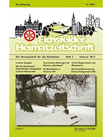 Eichsfelder Heimatzeitschrift, Heft 2, Februar 2012