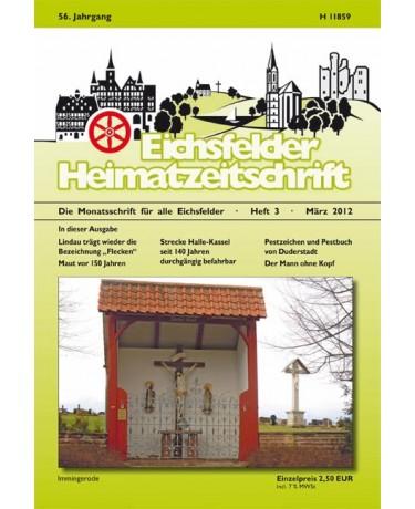 Eichsfelder Heimatzeitschrift, Heft 3, März 2012
