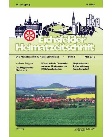 Eichsfelder Heimatzeitschrift, Heft 5, Mai 2012