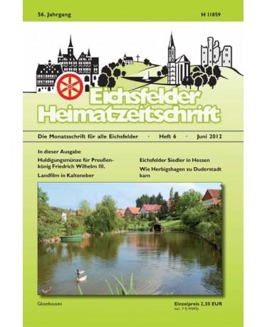 Eichsfelder Heimatzeitschrift, Heft 6, Juni 2012