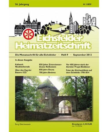 Eichsfelder Heimatzeitschrift, Heft 9, September 2012