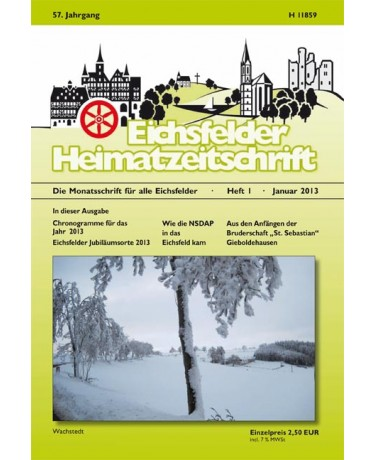 Eichsfelder Heimatzeitschrift, Heft 1, Januar 2013