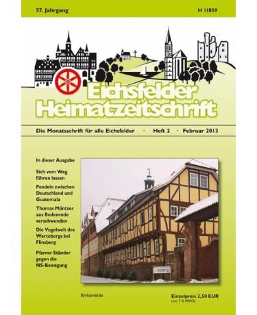 Eichsfelder Heimatzeitschrift, Heft 2, Februar 2013
