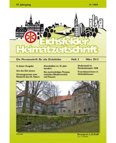 Eichsfelder Heimatzeitschrift, Heft 3, März 2013
