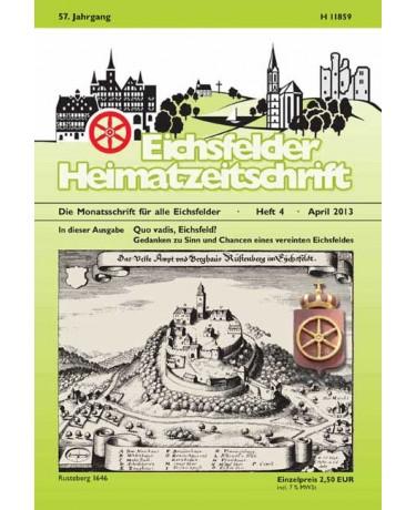Eichsfelder Heimatzeitschrift, Heft 4, April 2013