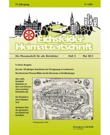 Eichsfelder Heimatzeitschrift, Heft 5, Mai 2013