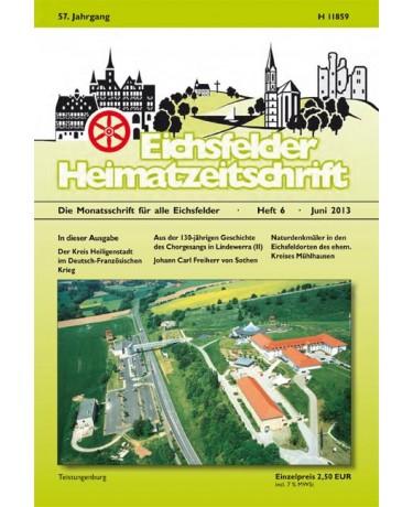 Eichsfelder Heimatzeitschrift, Heft 6, Juni 2013