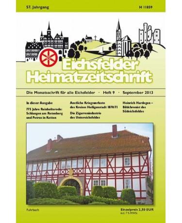 Eichsfelder Heimatzeitschrift, Heft 9, September 2013