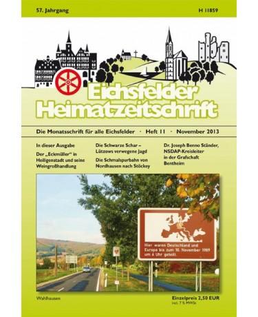Eichsfelder Heimatzeitschrift, Heft 11, November 2013