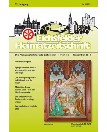 Eichsfelder Heimatzeitschrift, Heft 12, Dezember 2013