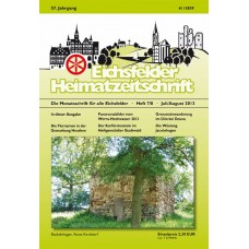 Eichsfelder Heimatzeitschrift, Heft 7/8, Juli/August 2013