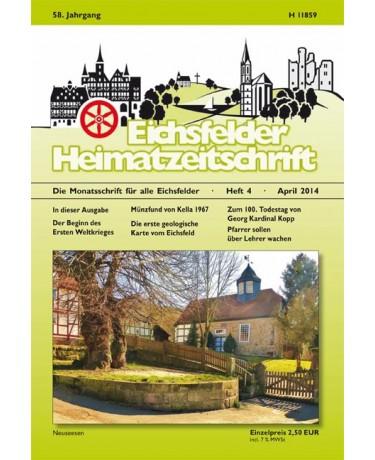 Eichsfelder Heimatzeitschrift, Heft 4, April 2014