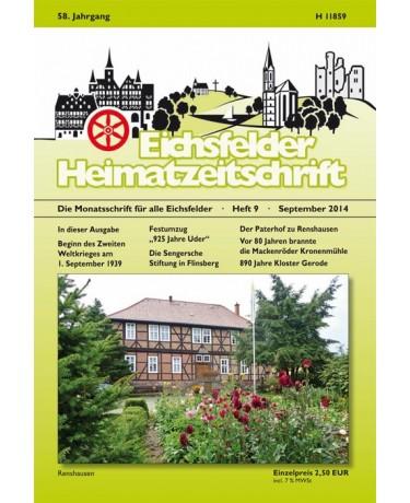 Eichsfelder Heimatzeitschrift, Heft 9, September 2014