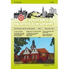 Eichsfelder Heimatzeitschrift, Heft 11, November 2014