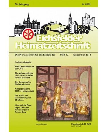 Eichsfelder Heimatzeitschrift, Heft 12, Dezember 2014