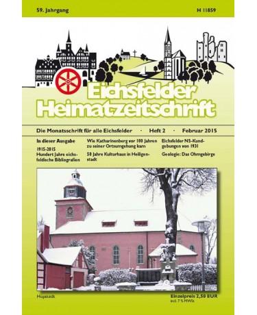 Eichsfelder Heimatzeitschrift, Heft 2, Februar 2015