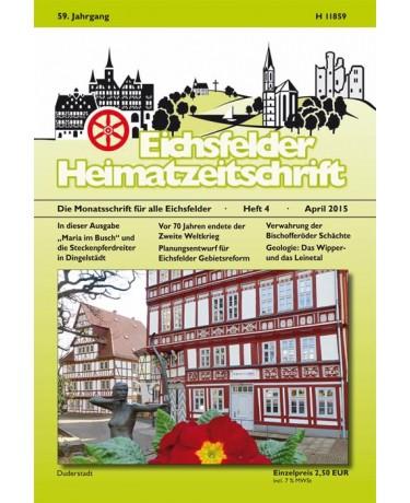 Eichsfelder Heimatzeitschrift, Heft 4, April 2015