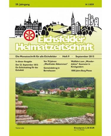 Eichsfelder Heimatzeitschrift, Heft 9,  September 2015