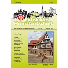 Eichsfelder Heimatzeitschrift, Heft 10, Oktober 2015