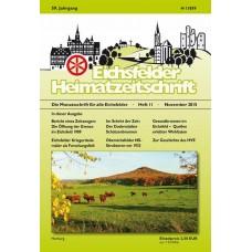 Eichsfelder Heimatzeitschrift, Heft 11, November 2015