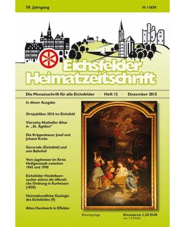 Eichsfelder Heimatzeitschrift, Heft 12, Dezember 2015