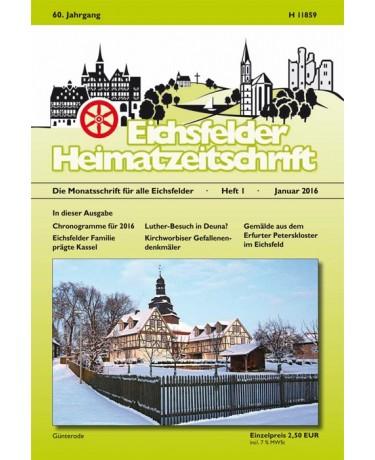 Eichsfelder Heimatzeitschrift, Heft 1, Januar 2016