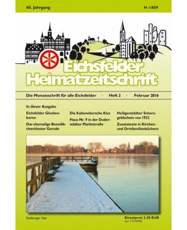 Eichsfelder Heimatzeitschrift, Heft 2, Februar 2016