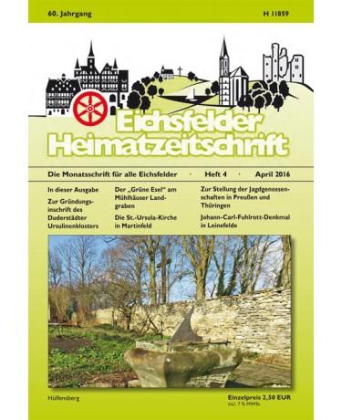 Eichsfelder Heimatzeitschrift, Heft 4, April 2016