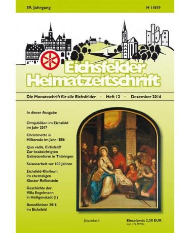 Eichsfelder Heimatzeitschrift, Heft 12, Dezember 2016