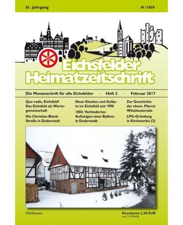 Eichsfelder Heimatzeitschrift, Heft 2, Februar 2017