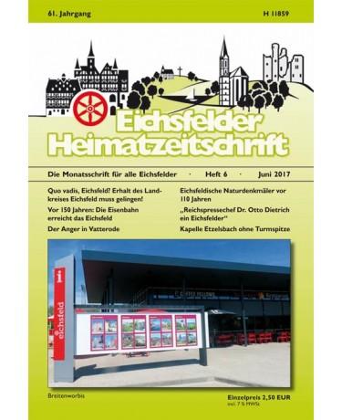 Eichsfelder Heimatzeitschrift, Heft 6, Juni 2017