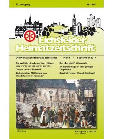 Eichsfelder Heimatzeitschrift, Heft 9, September 2017