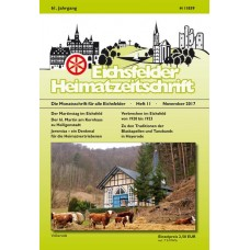 Eichsfelder Heimatzeitschrift, Heft 11, November 2017