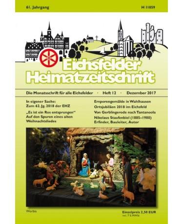 Eichsfelder Heimatzeitschrift, Heft 12, Dezember 2017