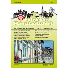 Eichsfelder Heimatzeitschrift, Heft 7/8, Juli/August 2017