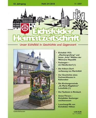 Eichsfelder Heimatzeitschrift, Heft 3-4, 2018