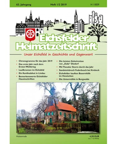 Eichsfelder Heimatzeitschrift, Heft 1-2, 2019