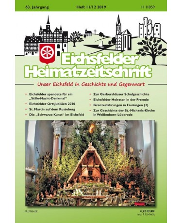 Eichsfelder Heimatzeitschrift, Heft 11-12, 2019