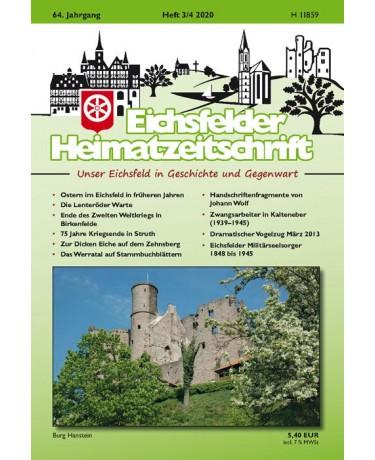 Eichsfelder Heimatzeitschrift, Heft 3-4, 2020