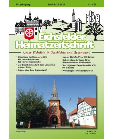 Eichsfelder Heimatzeitschrift, Heft 9-10, 2021