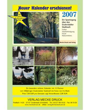 Kalender für das Jahr 2007 mit Bildmotiven über den 500-jährigen Duderstädter Stadtwall