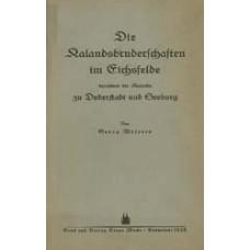 Die Kalandsbruderschaften im Eichsfelde, besonders die Kalande zu Duderstadt und Seeburg
