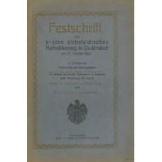 Festschrift zum ersten eichsfeldischen Katholikentage in Duderstadt am 17.10.1920