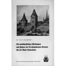 Die wirtschaftlichen Wirkungen und Folgen des Dreißigjährigen Krieges für die Mark Duderstadt